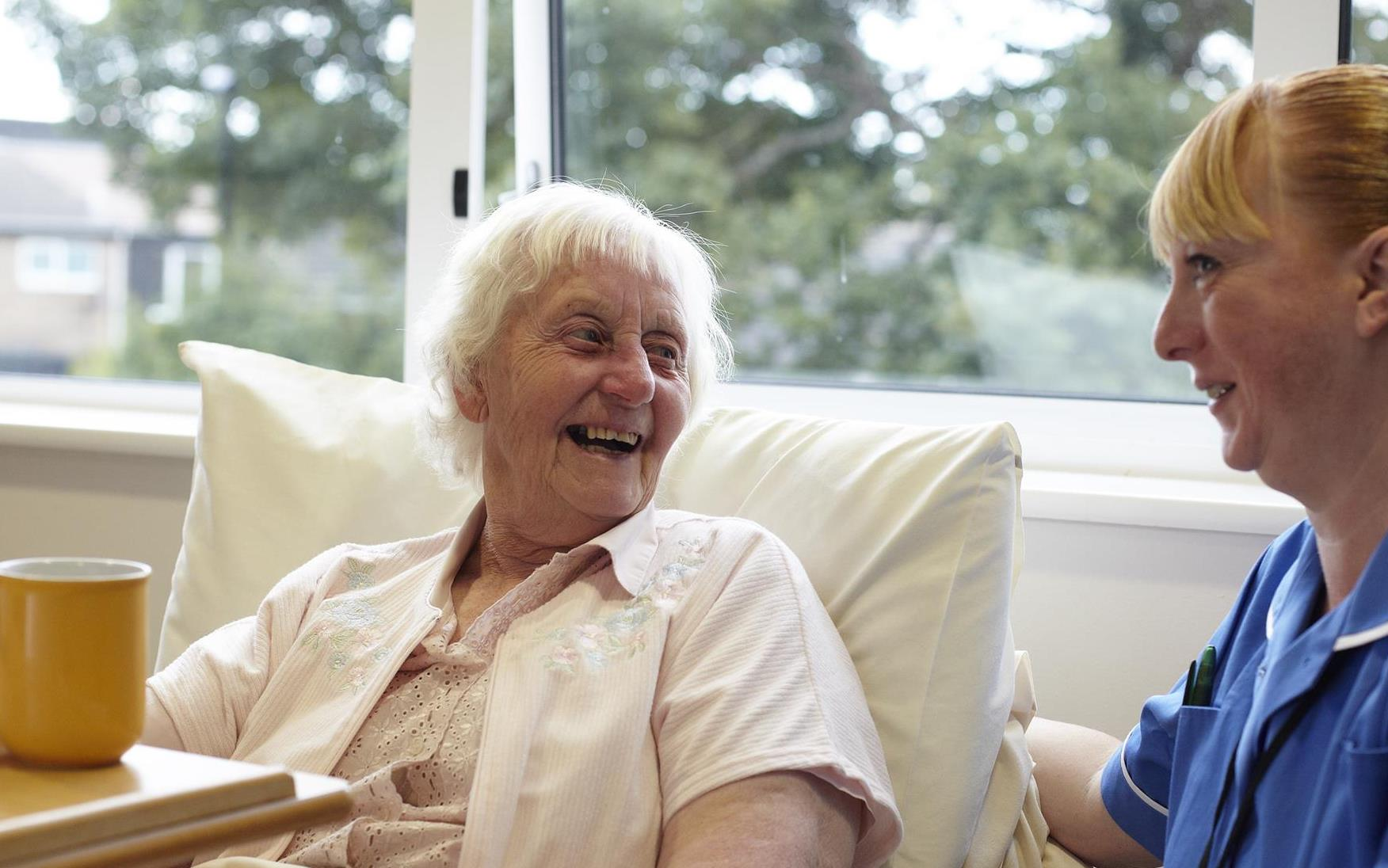 Female patient and nurse interior edit